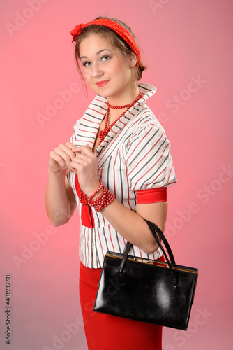 lady with purse