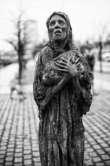 Famine statue in Dublin Ireland
