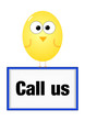 Call us contact sign