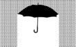 background with umbrella in the rain, vector