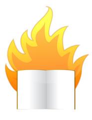 censorship concept burning book