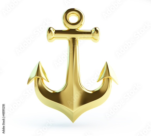 old gold anchor