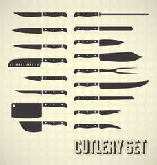 Kitchen Knives and Cutlery Vector Collection