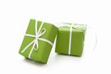 Grüne Geschenke isoliert