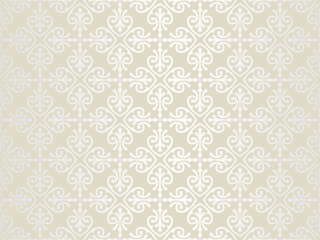 Bright pale luxury vintage wallpaper