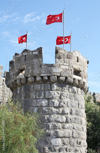 Tower in St Peter Castle, Bodrum, Turkey