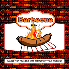 Barbecue menu design