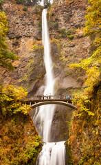 Multnomah Falls Waterfall Columbia River Gorge, Oregon