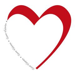 Saint Valentin_gros coeur rouge