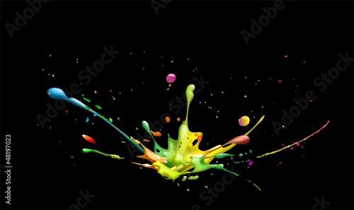 Fototapeten,einschlag,colour,kleckse,kleckse
