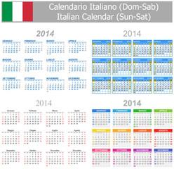 2014 Italian Mix Calendar Sun-Sat