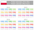 2014-2017 Type-1 Polish Calendar Mon-Sun