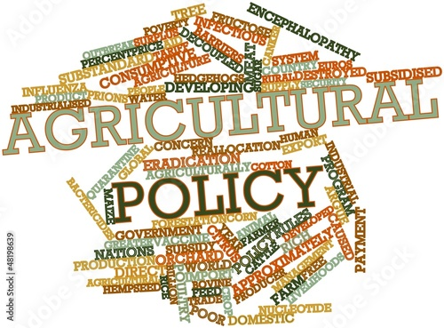 Word cloud for Agricultural policy