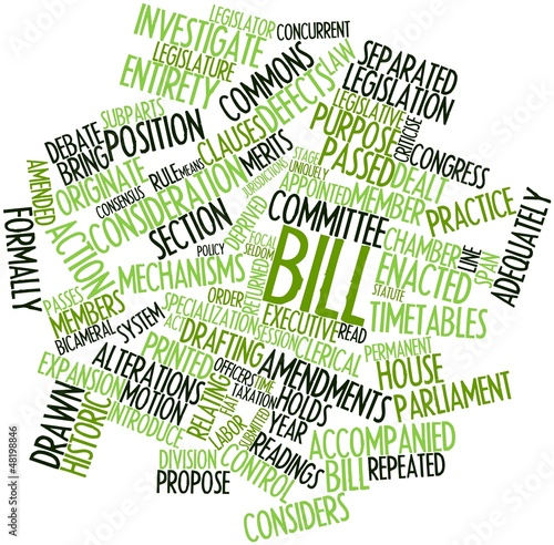 Word cloud for Bill
