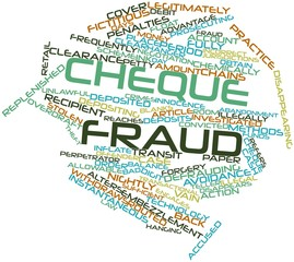 Word cloud for Cheque fraud