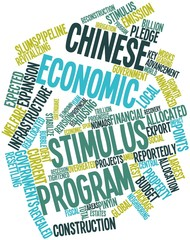 Word cloud for Chinese economic stimulus program