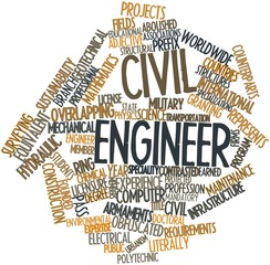 Word cloud for Civil engineer