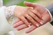 Couple hands wedding