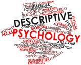 Word cloud for Descriptive psychology poster