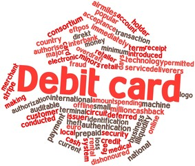 Word cloud for Debit card