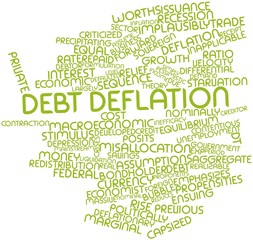 Word cloud for Debt deflation