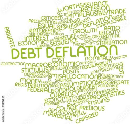 Word cloud for Debt deflation