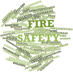 Word cloud for Fire safety