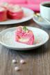 Pink cake pudding