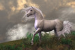 White Unicorn Stallion - 48202053