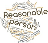 Word cloud for Reasonable person poster