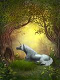 Fototapety Woodland Unicorn