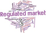 Word cloud for Regulated market poster