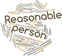 Word cloud for Reasonable person