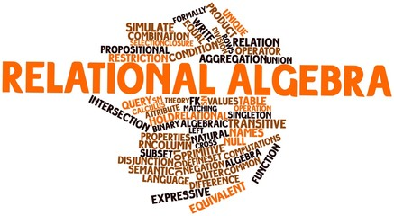 Word cloud for Relational algebra