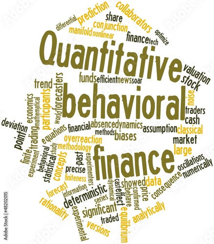 Word cloud for Quantitative behavioral finance