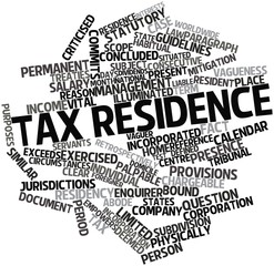 Word cloud for Tax residence