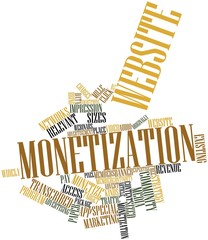 Word cloud for Website monetization