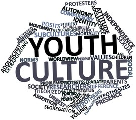 Word cloud for Youth culture