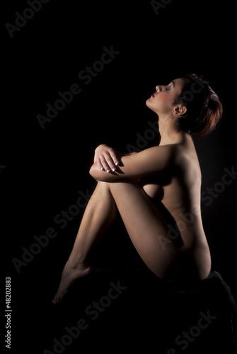 Fototapeten,frau,nude,nackt,schwarz