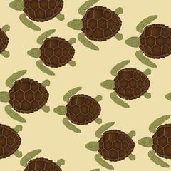 Sea turtles pattern