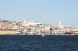 Panoramic view of Alfama district in Lisbon