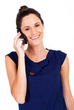 cute young businesswoman talking on cell phone