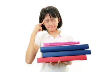 頭痛を訴える女の子