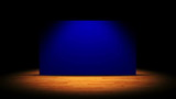 Theater, Curtain - Blue Screen, with Alpha Channel - HD1080