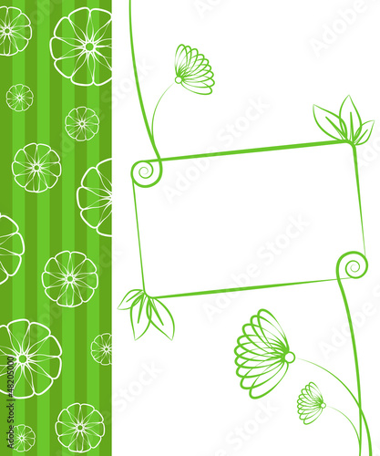 Beauty floral illustration. Floral green background.