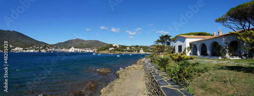 Panorama over Cadaques bay