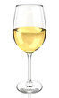 Wine glass isolated 3