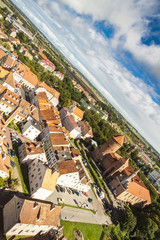 Aerial view of Reszel old town - Poland.