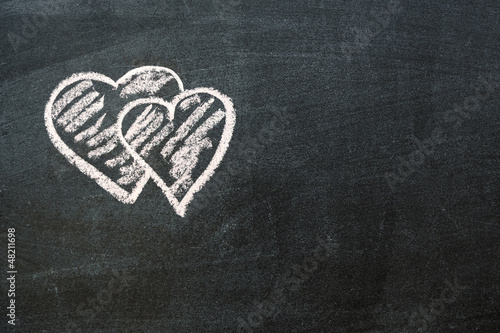 double hearts background
