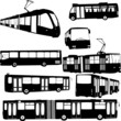 urban transportation collection - vector